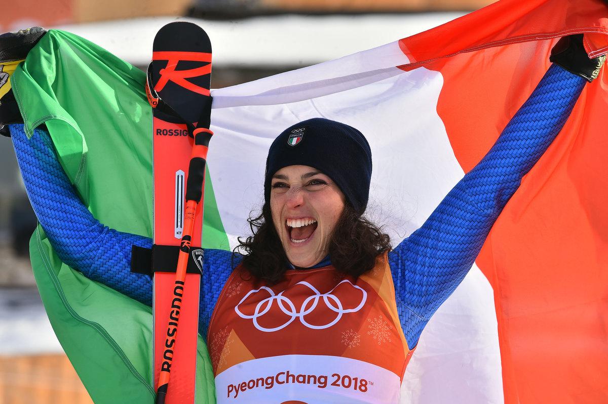 Federica Brignone wins the bronze in the giant slalom, Bassino comes 5th,  Moelgg 8th and Goggia 11th