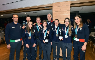 Biathlon and Short Track athletes ad Casa Italia