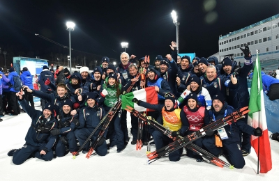 Biathlon mixed relay: bronze medal