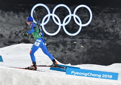 Biathlon Relay: Team Italy