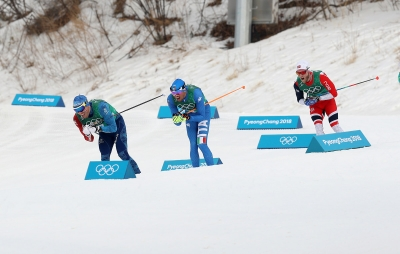 Cross-country skiing relay: Italy 7th