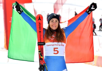 Goggia gold!!! First Italian Olympic athlete in downhill
