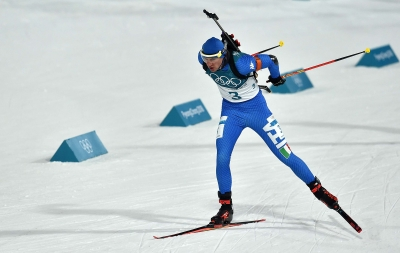 Italians competing in biathlon and women's luge
