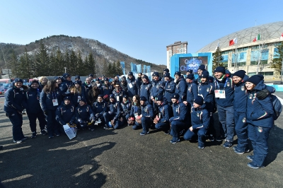Italy's Welcome Ceremony at the Olympic Village