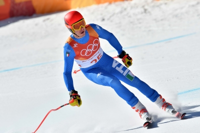 Men's combined alpine skiing
