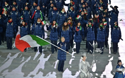 PyeongChang2018 opening ceremony. Fontana: with this flag, I fear nothing
