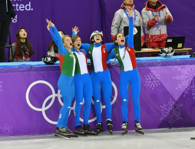 Short Track relay silver medal for Italy