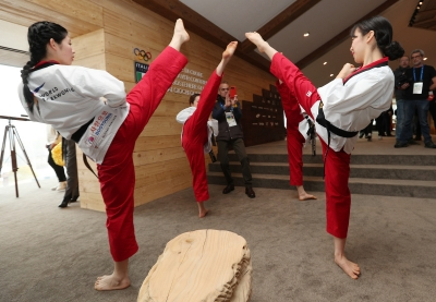 South and North Korea united by taekwondo in Casa Italia