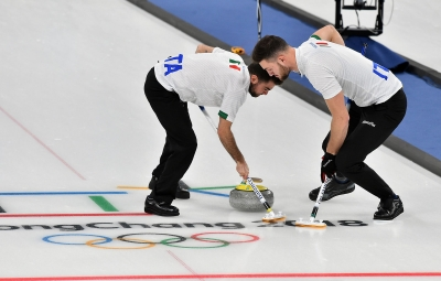 The curling tournament begins for the Italian team