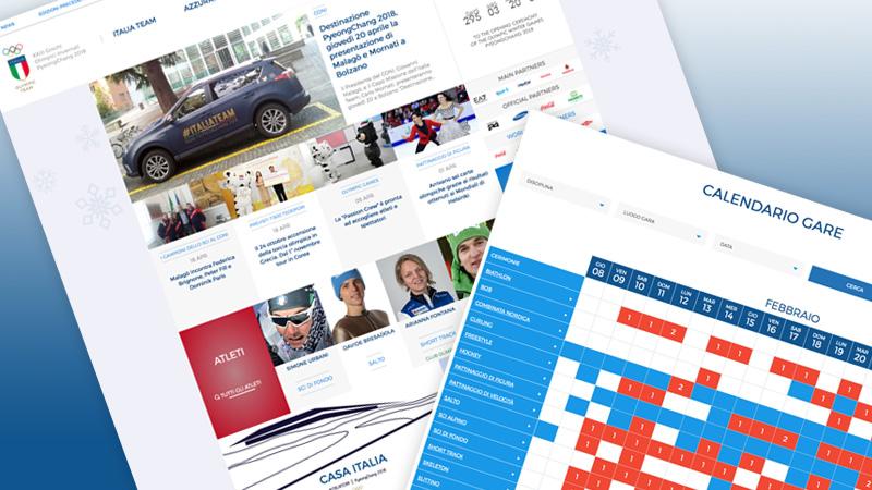 Online il sito dell'Italia Team per i XXIII Giochi Olimpici Invernali