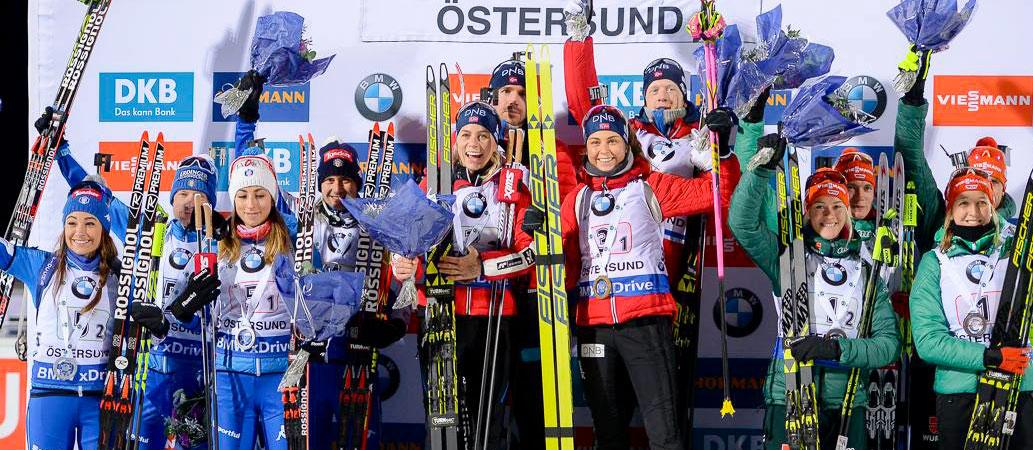 Coppa del Mondo, la staffetta mista azzurra non tradisce: seconda nella tappa di esordio a Oestersund