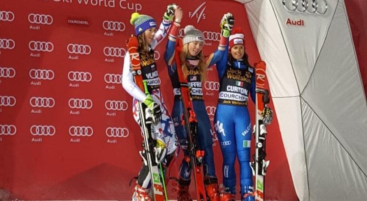 Irene Curtoni terza nello slalom parallelo di Courchevel in Coppa del Mondo